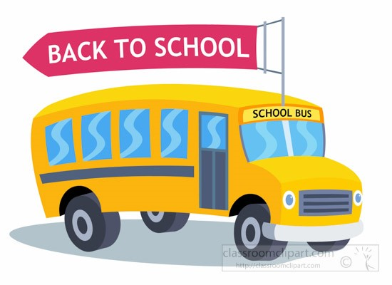 back to school bus clipart - photo #6